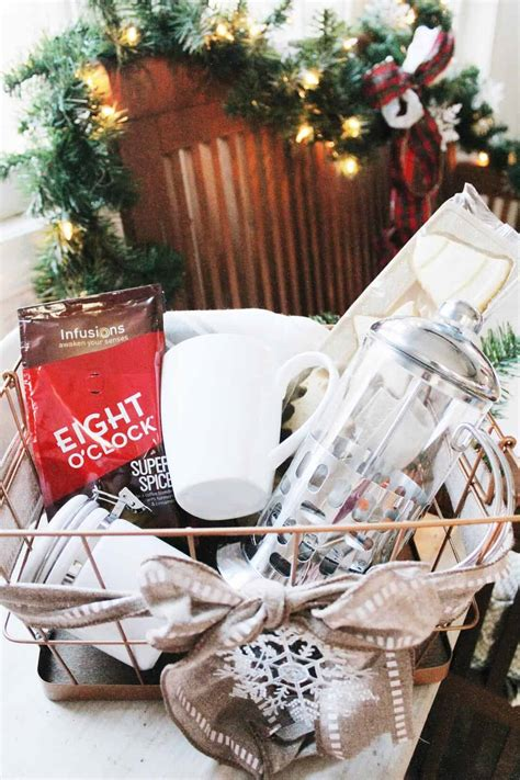 Since you're building a basket with multiple items. 5 Coffee Themed Gift Baskets for Holiday Gifting | The Mom ...