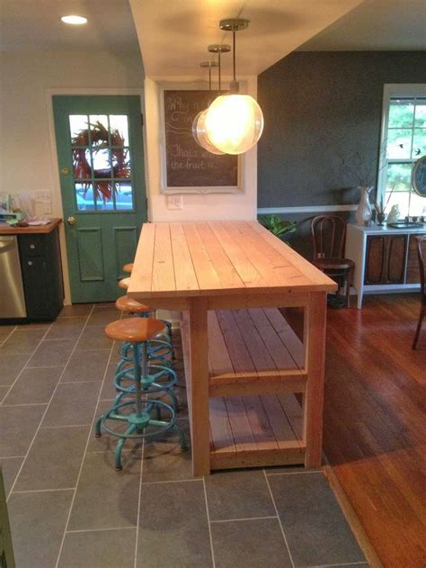 industrial  kitchen island   time  messed