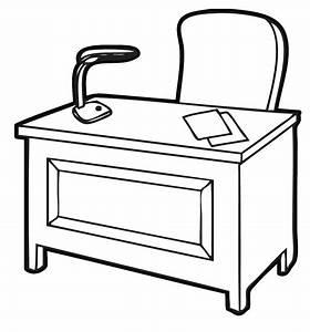 Home office clipart an office desk throughout office desk ...