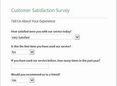 Customer Satisfaction Surveys Templates Customer