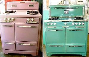 pastel colored gas stoves
