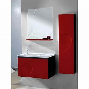 Meuble salle de bain rouge pas cher for Meuble salle de bain rouge pas cher
