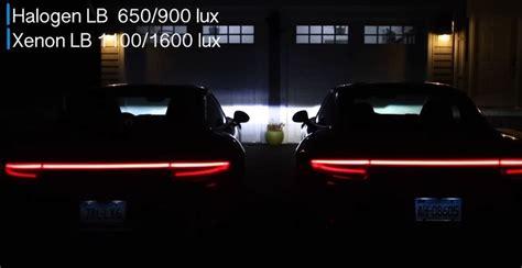 xenon led vs comparison porsche halogen carrera headlights 4s headlight bulbs autoevolution laser owns youtuber comes lights hid bulb conversion