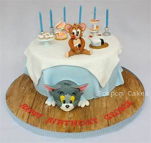 Tom and Jerry cake | A sixth birthday cake for a little ...