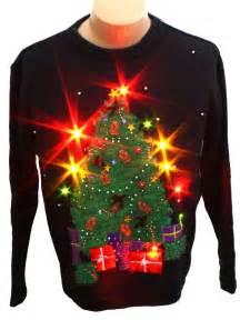light up ugly christmas sweater bobbie brooks unisex black background cotton ramie longsleeve