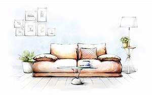 【1920x1200】手绘温馨家居电脑桌面壁纸 - 彼岸桌面