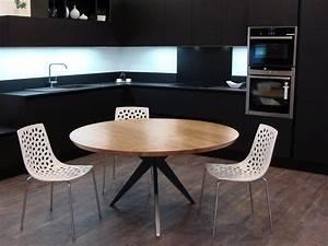 Table Ronde 140 Cm : table papillon ronde m tal et bois massif design pur ~ Teatrodelosmanantiales.com Idées de Décoration
