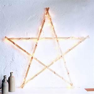 Petite Guirlande Lumineuse : etoile lumineuse en bois atelier du petit parc ~ Teatrodelosmanantiales.com Idées de Décoration