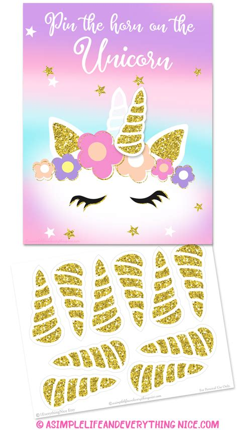 free unicorn booth frame and the horn the unicorn printable a simple and