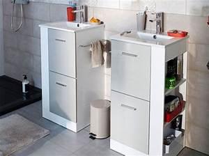 Miroir Salle De Bain Rangement : miroir de salle de bain avec rangement 1 un petit meuble de salle de bains avec bac 224 linge ~ Teatrodelosmanantiales.com Idées de Décoration