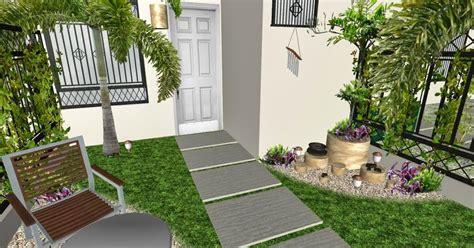 diseno de  jardin pequeno frente de una casa tipica de
