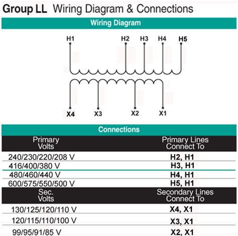Installation Wiring Diagram For Industri by 0 1 Kva Transformer Primary 208 600 Secondary 85 130