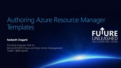 azure resource manager template authoring azure resource manager templates future unleashed 2015