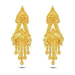 p n gadgil jewellers 22k yellow gold drop earrings