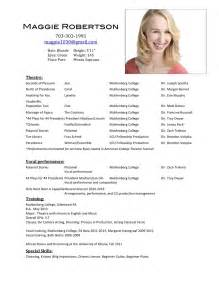 resume format for acting auditions acting resume search results calendar 2015