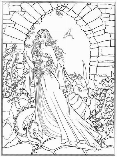 Gothic Coloring Pages Adult Printable Getcolorings