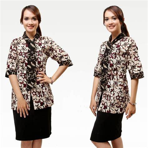 model baju batik wanita  kerja harian model baju