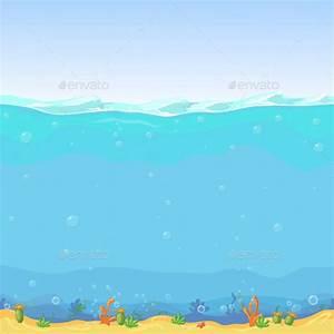 Underwater Seamless Landscape Cartoon Background by ...