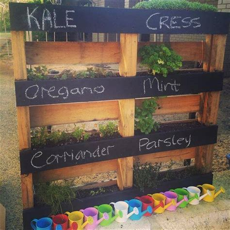 How To Make A Vertical Pallet Herb Garden by Diy Pallet Vertical Herb Garden Hanging Planter