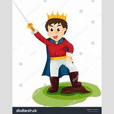 Illustration Isolated Cartoon Prince On White Stock Vector 116889364 Shutterstock