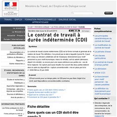 contrat de travail cadre cdi 7 le contrat de travail 3 la relation de travail pearltrees