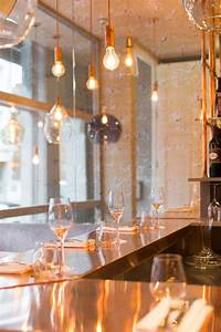 Industrial Copper Wall Lights Inside This New Restaurant In London Is A Copper Lovers