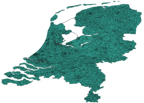 Map Polygons For The Netherlands