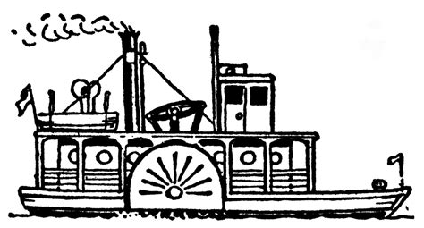 Steamboat Clipart by Steam Boat Drawing Www Imgkid The Image Kid Has It