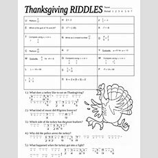 Thanksgiving Math Riddles By Stone  Teachers Pay Teachers
