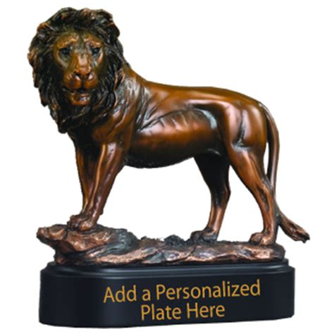 bronze king lion trophy bronze lion award statue
