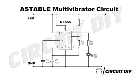 Astable Multivibrator Using Timer Diy Step