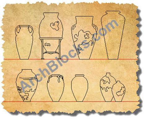 cad symbols vases and pots autocad blocks vases pots