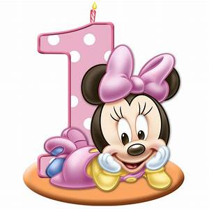 Baby Minnie Mouse 1st Birthday Clipart - ClipartXtras