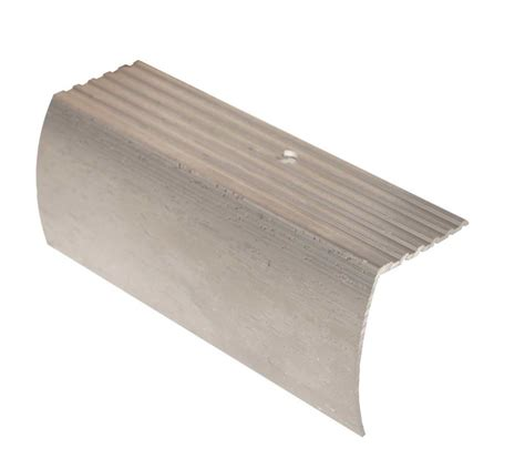 Stair Nosing For Tile Home Depot by Shur Trim Stair Nosing Floor Moulding Hammered Silver 1