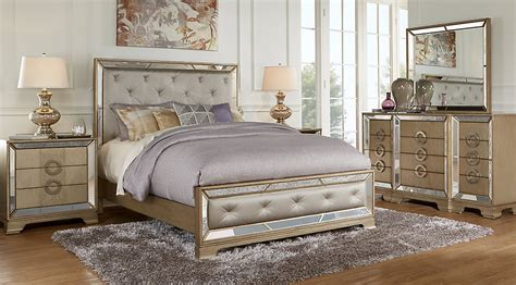 silver bedroom furniture sets driskill place silver 5 pc king bedroom king bedroom 17062 | br rm driskillplace~Driskill Place Silver 5 Pc King Bedroom