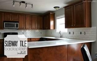 how to install subway tile kitchen backsplash duo ventures kitchen makeover subway tile backsplash installation