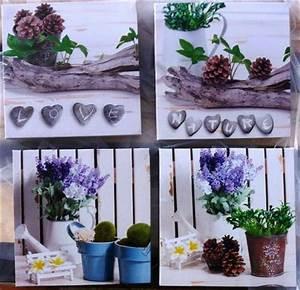 Lavendel Pflanzen Kaufen : 4 teilig wandbilder lavendel motive je 16 x 16 cm nature ~ Lizthompson.info Haus und Dekorationen