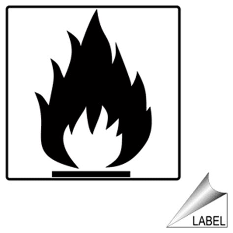 flammable symbol label label sym  flammable