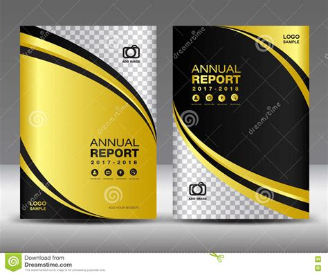 gold cover template cover annual report cover design