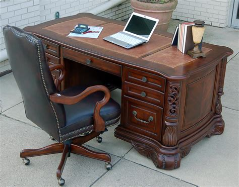 computer desk with hutch and file cabinet home office ornate executive computer desk with credenza