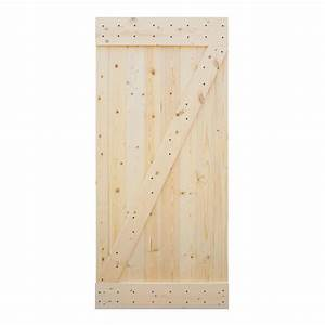 calhome 38 in x 84 in 1 panel unfinished natural wood With 38 inch barn door