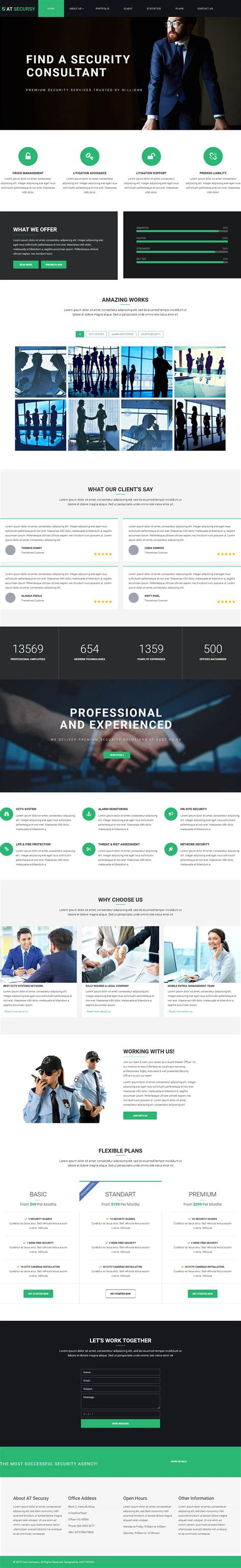 Onepage Theme Age Themes Secursy Onepage V1 0 0 Landing Template For