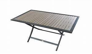 Table Exterieur Pliante : table exterieur pliante salon de jardin metal objets decoration maison ~ Teatrodelosmanantiales.com Idées de Décoration