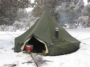 This is a M1950 army tent with a wood stove hook up From
