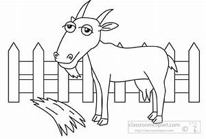 Animals Clipart- farm -animal-goat-black-white-outline-960 ...