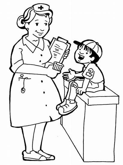 Nurse Coloring Tabik Kat Kerenah Sabar Budak