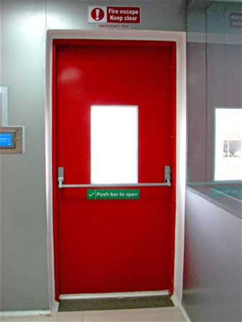 fire exit personnel doors   hour fire rated