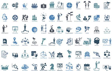 design elements management pictograms design elements