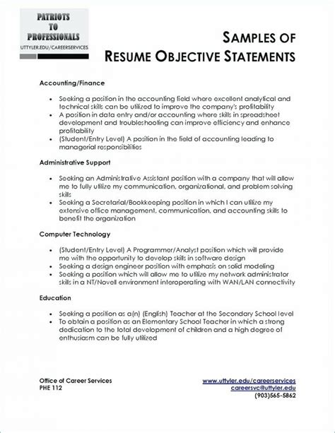 Resume Opening Statement by 9 10 Resume Opening Statement Exles
