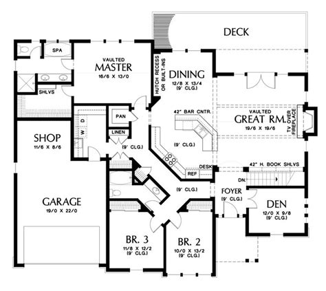 Craftsman Style House Plan 4 Beds 3 Baths 2933 Sq/Ft